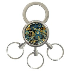 Retro Ethnic Background Pattern Vector 3 Ring Key Chains