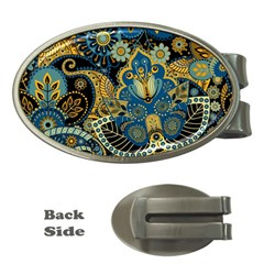 Retro Ethnic Background Pattern Vector Money Clips (oval)