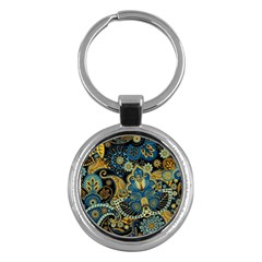Retro Ethnic Background Pattern Vector Key Chains (round)