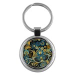Retro Ethnic Background Pattern Vector Key Chains (Round)  Front