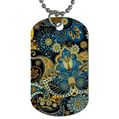 Retro Ethnic Background Pattern Vector Dog Tag (one Side)