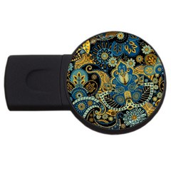 Retro Ethnic Background Pattern Vector Usb Flash Drive Round (2 Gb)