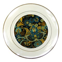 Retro Ethnic Background Pattern Vector Porcelain Plates
