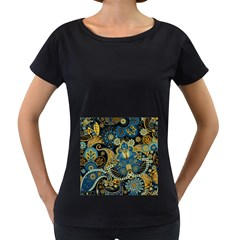 Retro Ethnic Background Pattern Vector Women s Loose Fit T Shirt (black)