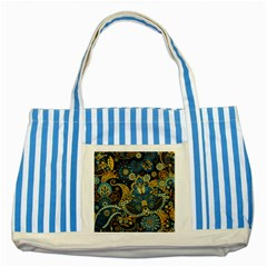 Retro Ethnic Background Pattern Vector Striped Blue Tote Bag