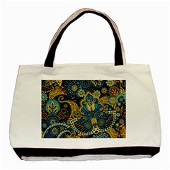 Retro Ethnic Background Pattern Vector Basic Tote Bag (two Sides)