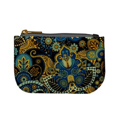 Retro Ethnic Background Pattern Vector Mini Coin Purses