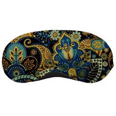 Retro Ethnic Background Pattern Vector Sleeping Masks