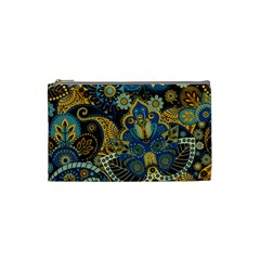 Retro Ethnic Background Pattern Vector Cosmetic Bag (small)