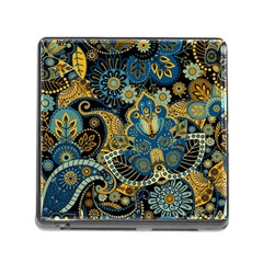Retro Ethnic Background Pattern Vector Memory Card Reader (Square)