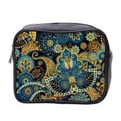 Retro Ethnic Background Pattern Vector Mini Toiletries Bag 2 Side