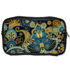 Retro Ethnic Background Pattern Vector Toiletries Bags 2 Side