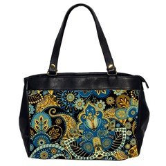 Retro Ethnic Background Pattern Vector Office Handbags (2 Sides)