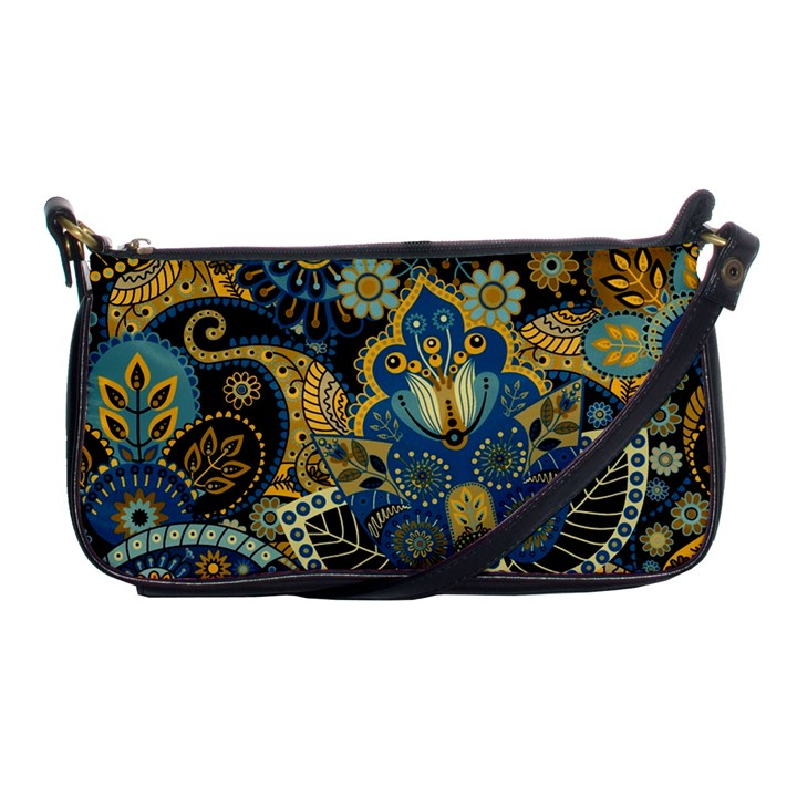 Retro Ethnic Background Pattern Vector Shoulder Clutch Bags