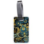 Retro Ethnic Background Pattern Vector Luggage Tags (One Side)  Front