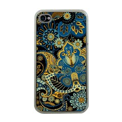 Retro Ethnic Background Pattern Vector Apple Iphone 4 Case (clear)
