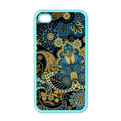 Retro Ethnic Background Pattern Vector Apple Iphone 4 Case (color)