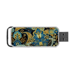 Retro Ethnic Background Pattern Vector Portable Usb Flash (two Sides)