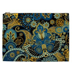 Retro Ethnic Background Pattern Vector Cosmetic Bag (XXL)
