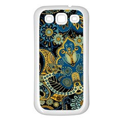 Retro Ethnic Background Pattern Vector Samsung Galaxy S3 Back Case (white)