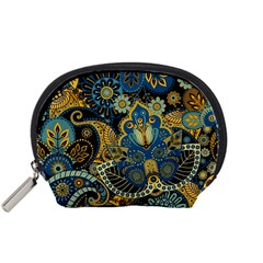 Retro Ethnic Background Pattern Vector Accessory Pouches (Small)
