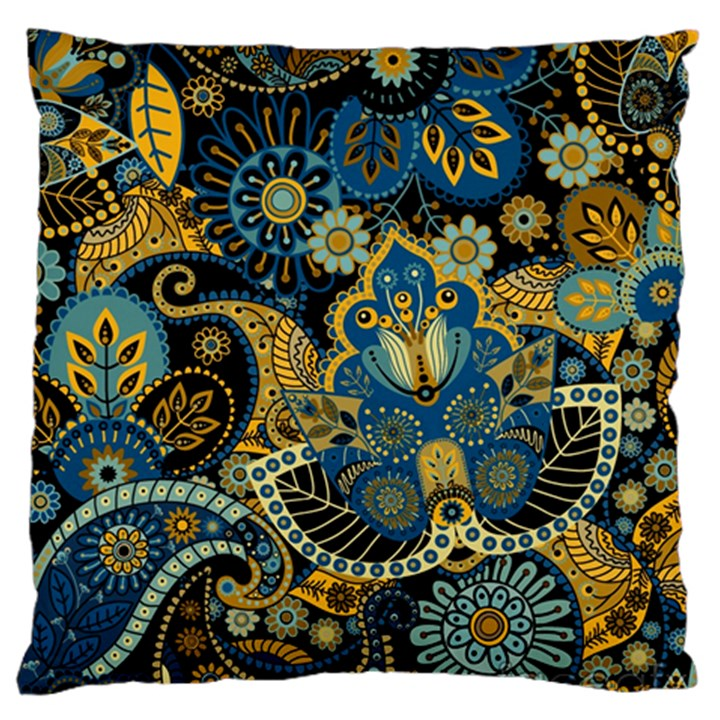 Retro Ethnic Background Pattern Vector Standard Flano Cushion Case (One Side)