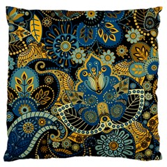Retro Ethnic Background Pattern Vector Large Flano Cushion Case (Two Sides)