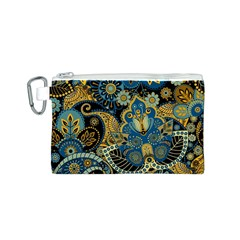 Retro Ethnic Background Pattern Vector Canvas Cosmetic Bag (S)