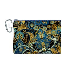 Retro Ethnic Background Pattern Vector Canvas Cosmetic Bag (M)