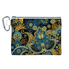 Retro Ethnic Background Pattern Vector Canvas Cosmetic Bag (l)
