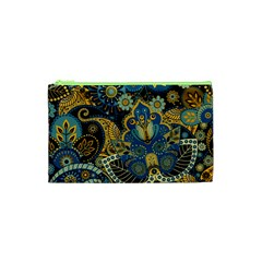Retro Ethnic Background Pattern Vector Cosmetic Bag (xs)