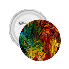 Stained Glass Patterns Colorful 2.25  Buttons