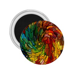 Stained Glass Patterns Colorful 2 25  Magnets