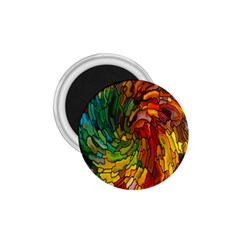 Stained Glass Patterns Colorful 1.75  Magnets