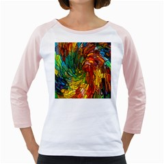Stained Glass Patterns Colorful Girly Raglans