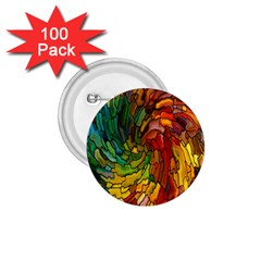 Stained Glass Patterns Colorful 1 75  Buttons (100 Pack)