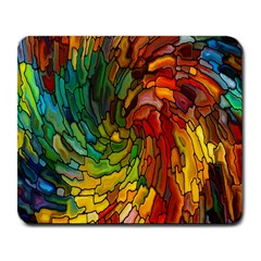 Stained Glass Patterns Colorful Large Mousepads