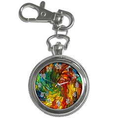 Stained Glass Patterns Colorful Key Chain Watches