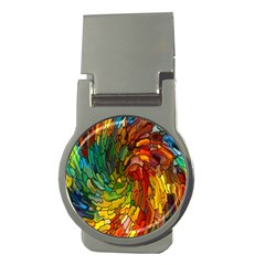 Stained Glass Patterns Colorful Money Clips (round)