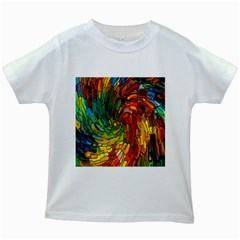Stained Glass Patterns Colorful Kids White T-Shirts