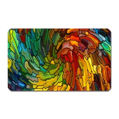 Stained Glass Patterns Colorful Magnet (rectangular)