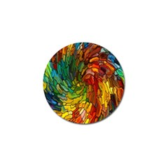 Stained Glass Patterns Colorful Golf Ball Marker