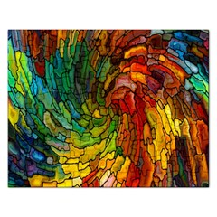 Stained Glass Patterns Colorful Rectangular Jigsaw Puzzl