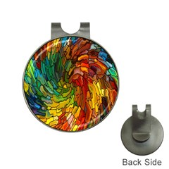 Stained Glass Patterns Colorful Hat Clips With Golf Markers