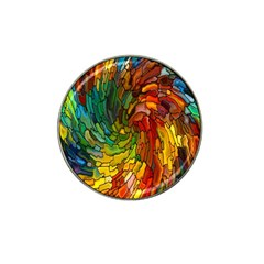 Stained Glass Patterns Colorful Hat Clip Ball Marker (10 pack)