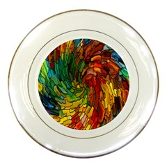 Stained Glass Patterns Colorful Porcelain Plates