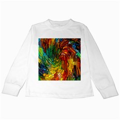 Stained Glass Patterns Colorful Kids Long Sleeve T Shirts