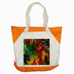 Stained Glass Patterns Colorful Accent Tote Bag