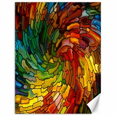 Stained Glass Patterns Colorful Canvas 12  x 16