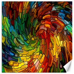 Stained Glass Patterns Colorful Canvas 20  X 20